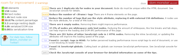 Аналізуємо якість сайту за допомогою DOM Monster
