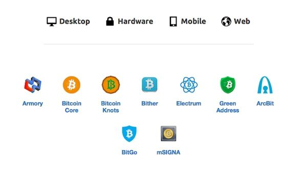 Выбор кошелька Bitcoin